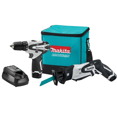 Makita LCT212W 12V max Lithium-Ion Cordless 2 Pc. Combo Kit, FD02W, RJ01W, bag