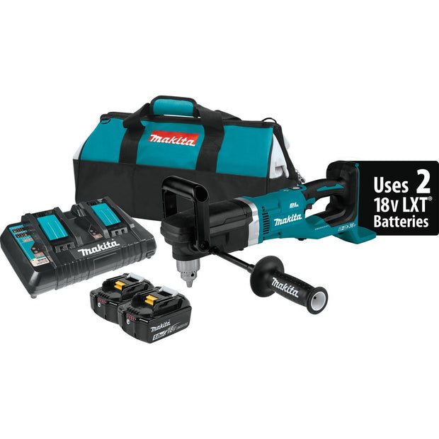 "Makita XAD03PT 18V X2 LXT Lithium‑Ion Brushless Cordless 1/2"" Right Angle Drill Kit"