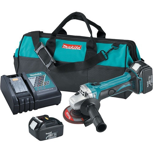 "Makita XAG01 18V LXT Lithium‑Ion Cordless 4‑1/2"" Cut‑Off/Angle Grinder Kit (3.0Ah)"