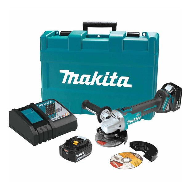 "Makita XAG03MB 18V LXT Brushless 4-1/2"" Cut-Off/Angle Grinder Kit"