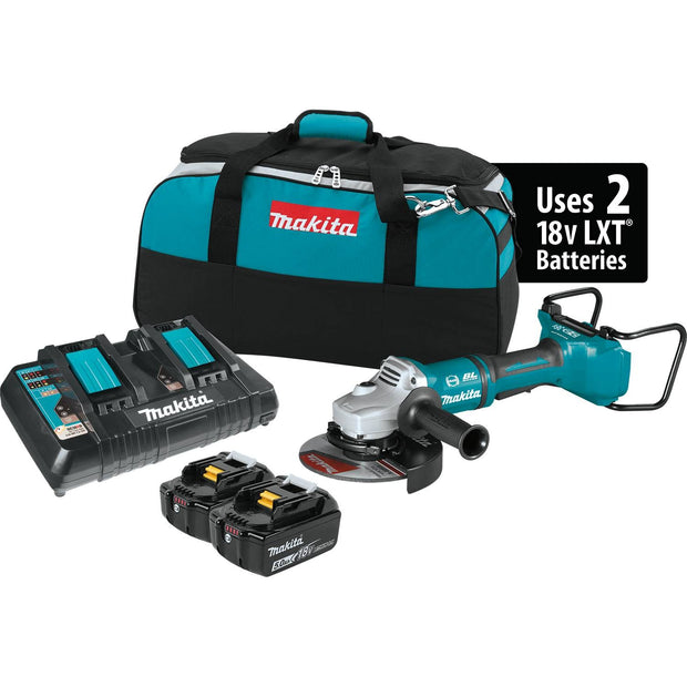 "Makita XAG12PT1 18V X2 LXT (36V) Brushless 7"" Cut-Off/Angle Grinder Kit"