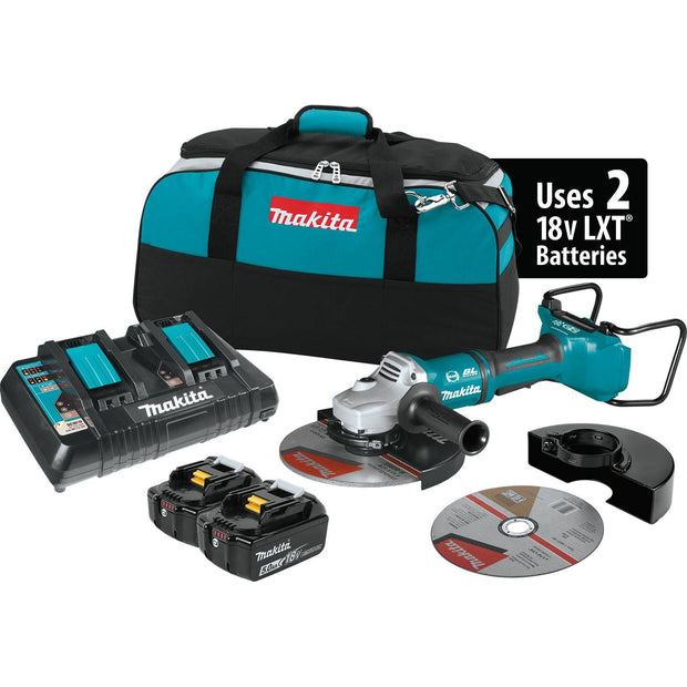 Makita XAG13PT1 18V X2 LXT Li-Ion (36V) Brushless Cut-Off/Angle Grinder