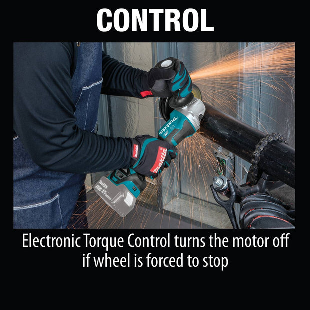"Makita XAG20Z 18V LXT Brushless 4-1/2"" / 5"" Cut-Off/Angle Grinder"