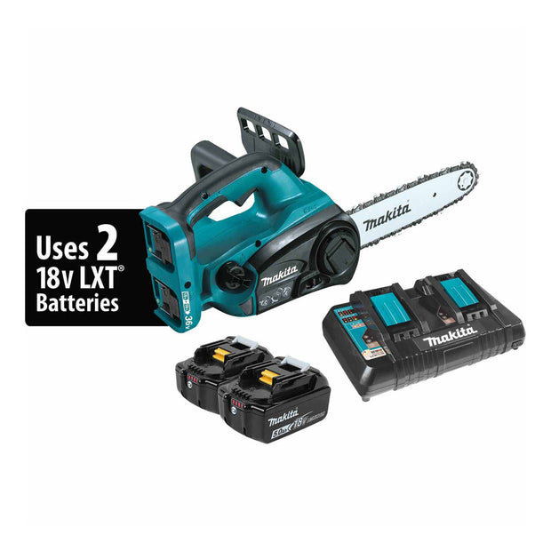 Makita XCU02PT 18V X2 LXT Li-Ion (36V) Cordless Chain Saw Kit 5.0Ah