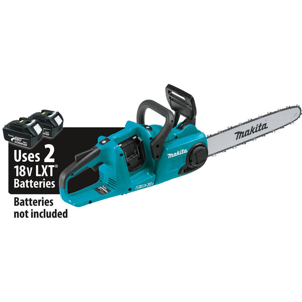 "Makita XCU04Z 18V X2 (36V)LXT Lithium-Ion Brushless Cordless 16"" Chain Saw"