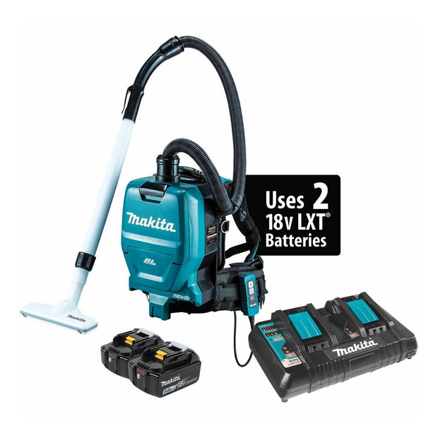Makita XCV05PT 18V X2 LXT (36V)Brushless Backpack Dust Extractor/Vacuum Kit
