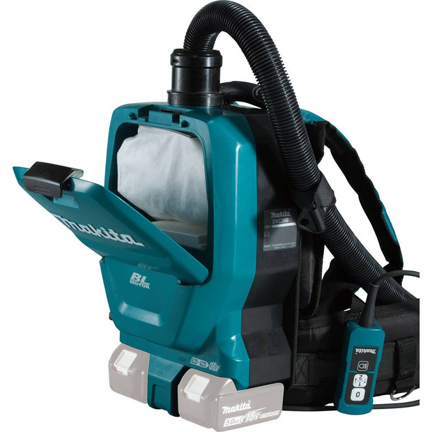 Makita XCV05Z 18V X2 LXT Li-Ion 1/2 Gal HEPA Filter Backpack Vacuum Bare Tool
