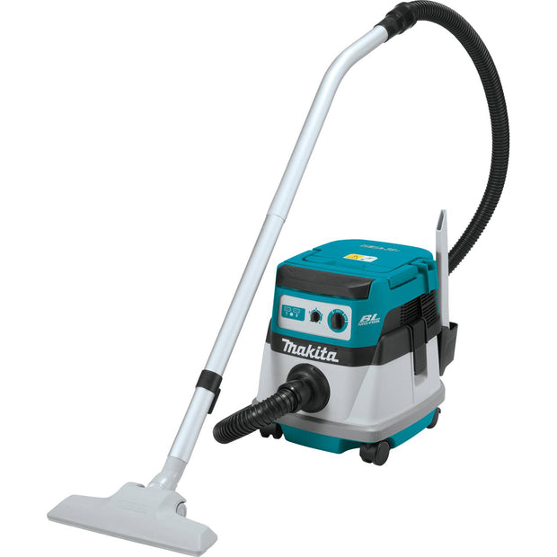 Makita XCV06Z 18V X2 LXT Lithium‑Ion (36V) Brushless Cordless 2.1 Gallon Wet/Dry Dust Extractor/Vacuum, Bare Tool