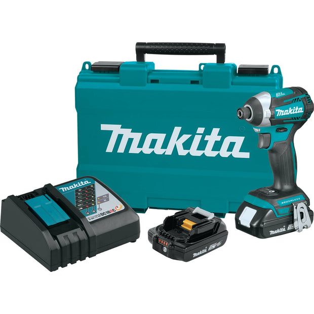 Makita XDT14R 18V Li-Ion Comp Brushless Quick-Shift S 3-Speed Impact Driver Kit, 2.0Ah