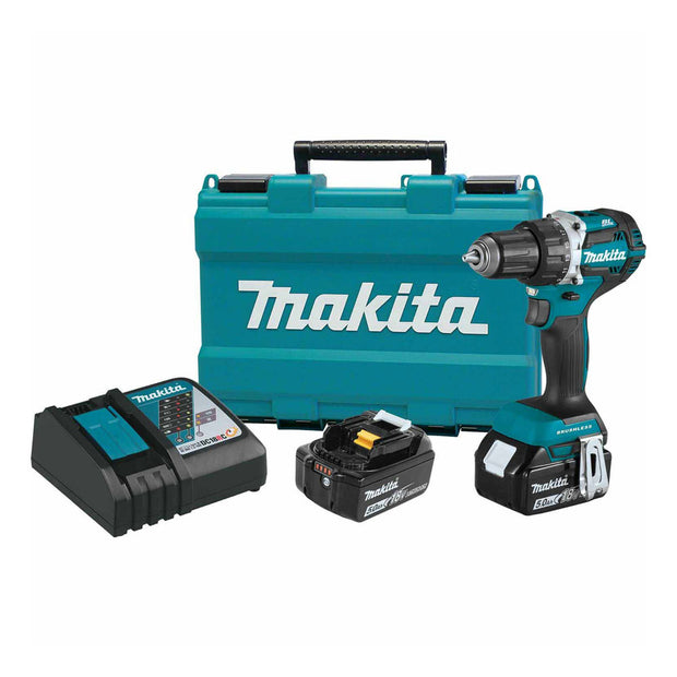 "Makita XFD12T 18V LXT Compact Brushless 1/2"" Driver-Drill Kit 5.0Ah"