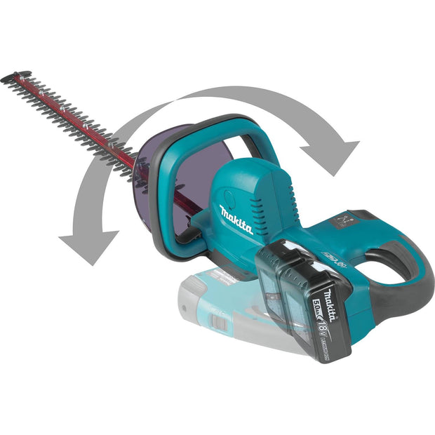 Makita XHU04PT 18V X2 LXT Li-Ion (36V) Cordless Hedge Trimmer Kit (5.0Ah)