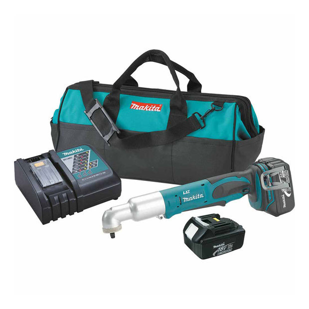 "Makita XLT02 18V LXT Li-Ion Cordless 3/8"" Angle Impact Wrench Kit"