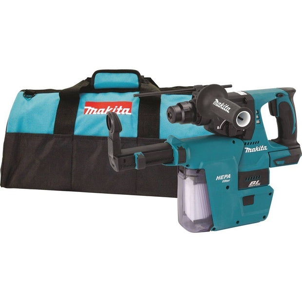 "Makita XRH01ZVX 18V LXT Li-Ion Brushless 1"" SDS-PLUS Rotary Hammer w built-in HEPA Vacuum (Bare)"