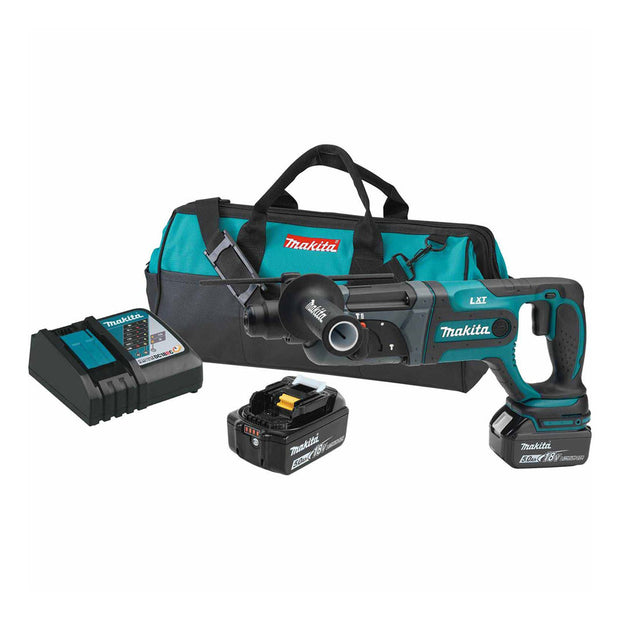 "Makita XRH04T 18V LXT Cordless 7/8"" SDS-Plus Rotary Hammer Kit"