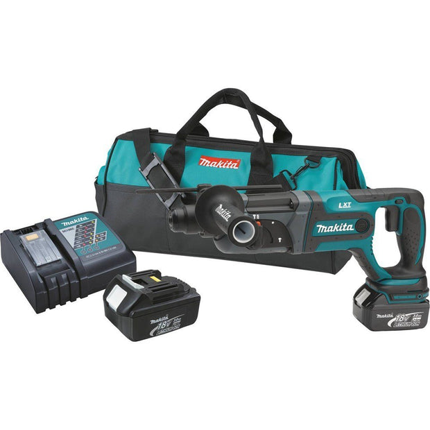 "Makita XRH04 18V LXT Lithium-Ion Cordless 7/8"" SDS-Plus Rotary Hammer Kit"