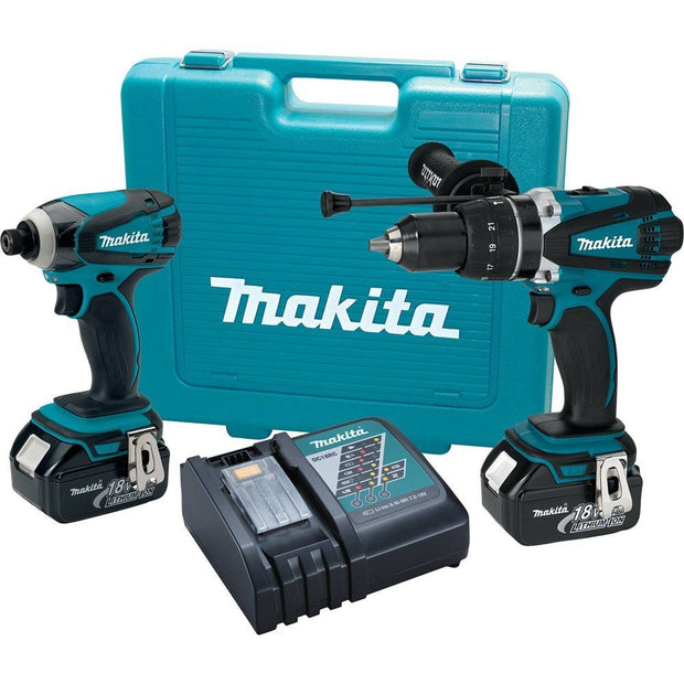 Makita XT218 18V LXT Lithium-Ion Cordless 2-Pc. Combo Kit