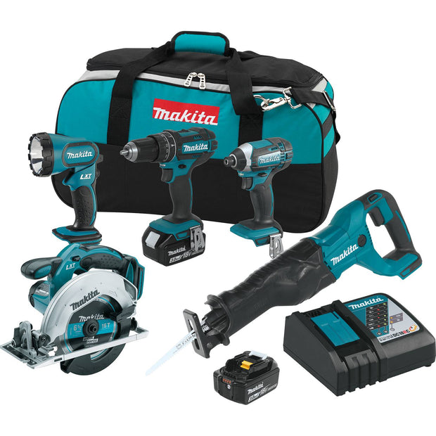 Makita XT505 18V LXT Lithium-Ion Cordless 5 Piece Kit