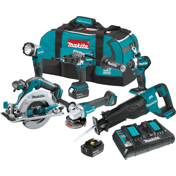 Makita XT611PT 18V LXT Li-Ion Brushless Cordless 6 Piece Combo Kit