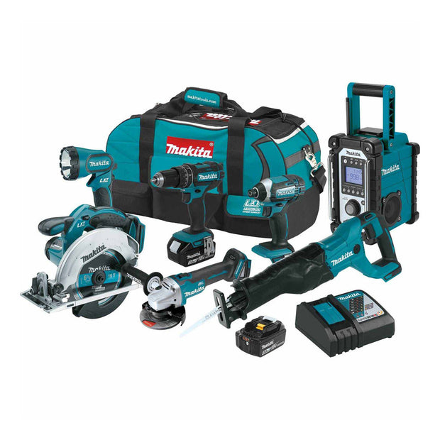Makita XT704 18V LXT Li-Ion Cordless 7-Piece Combo Kit 3.0 Ah