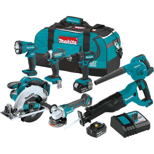 Makita XT706 18V LXT 7 Piece Combo Kit (3.0Ah)
