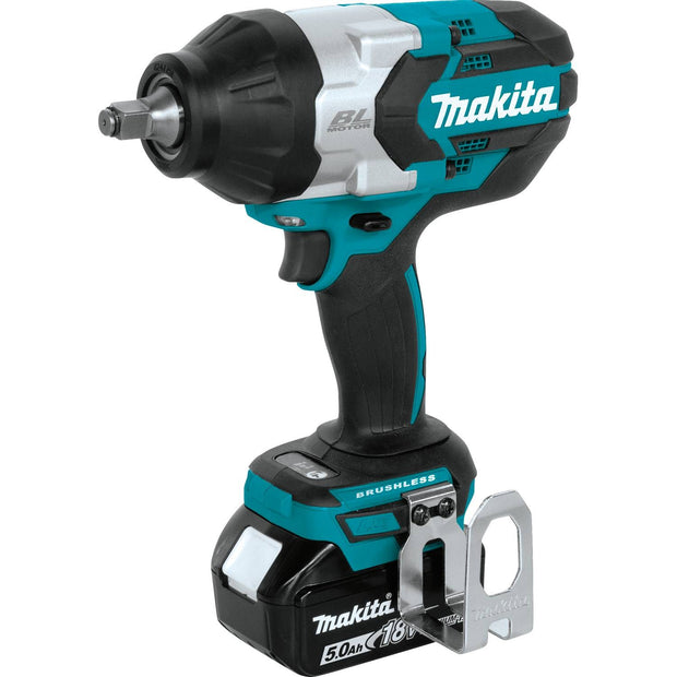 "Makita XWT08T 18V LXT Li-Ion Brushless Cordless High Torque 1/2"" Square Impact Wrench Kit, 5.0 Ah"