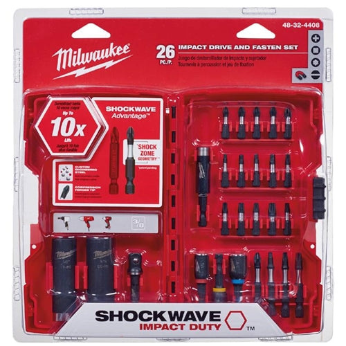 Milwaukee 48-32-4408 26PC Shockwave Kit with Sockets