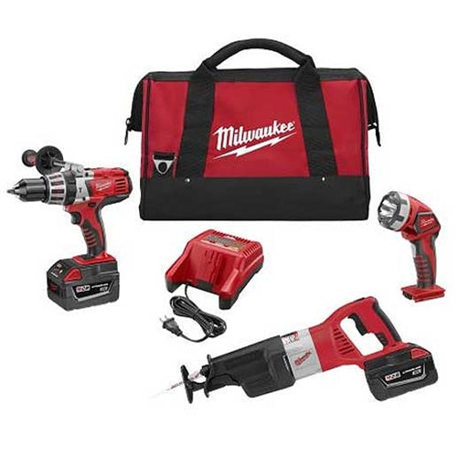 Milwaukee 0928-23 V28 Lithium-Ion 3-Pack Combo Kit