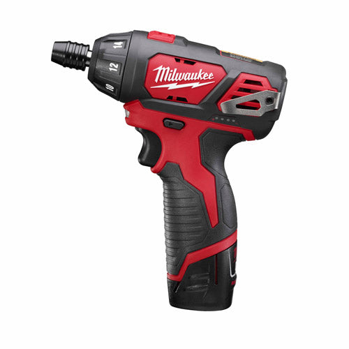 "Milwaukee 2401-22 M12 Lithium-Ion 12V 1/4"" Hex Screwdriver Kit"