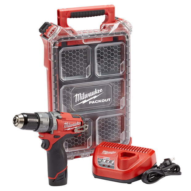 Milwaukee 2404-21P M12 FUEL Hammer Drill with FREE PackOut Case