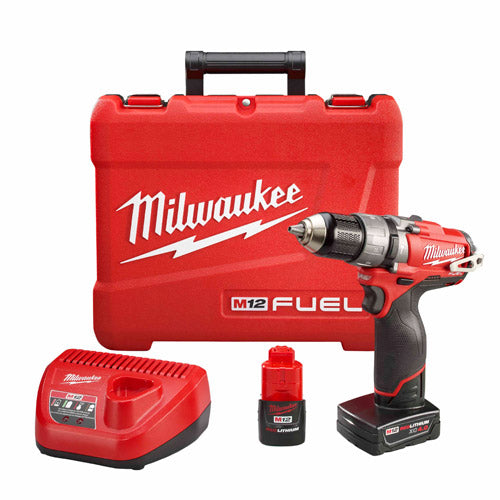 "Milwaukee 2404-22 M12 FUEL 1/2"" Hammer Drill/Driver Kit"