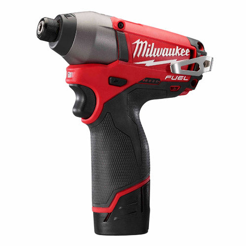 "Milwaukee 2453-22 M12 FUEL 1/4"" Hex Impact Driver Kit"