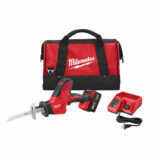 Milwaukee 2625-21 M18 18-Volt Hackzall Cordless One-Handed Reciprocating Saw Kit