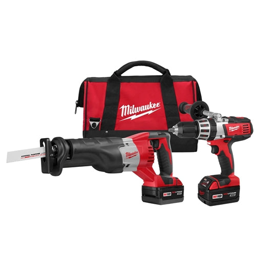 Milwaukee 2690-22 M18 Li-Ion 18V Hammer Drill & Sawzall Kit