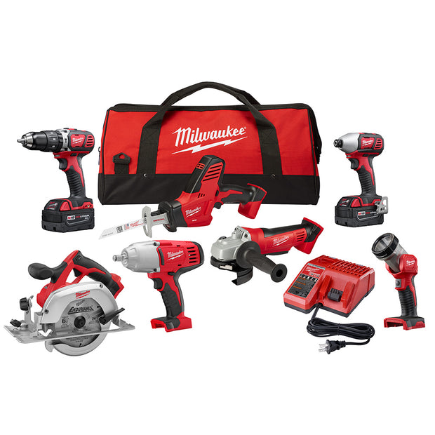 Milwaukee 2694-27 M18 18-Volt Lithium-Ion Cordless Combo Kit (7-Tool)