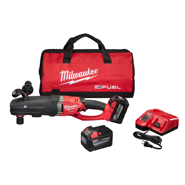 Milwaukee 2711-22HD M18 FUEL Quik-Lok Super Hawg HD Kit, 2 9.0 AH Battery