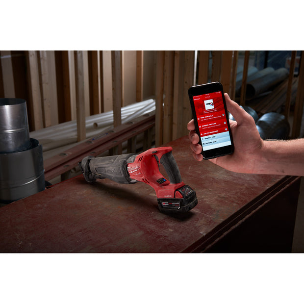 Milwaukee 2721-22HD M18 FUEL One-Key SAWZALL Kit with 8.0HD Batteries and Charger