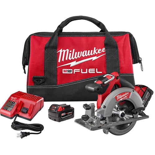 "Milwaukee 2730-22 M18 FUEL 6-1/2"" Circular Saw Kit with 2 Batteries"