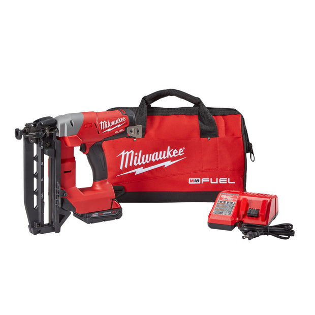 Milwaukee 2741-21CT M18 FUEL 16GA Straight Finish Nailer Kit