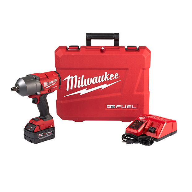 "Milwaukee 2767-21 Gen 2 M18 Fuel High Torque Imp Wrench 1/2"" Friction Ring- 1 Battery Kit"