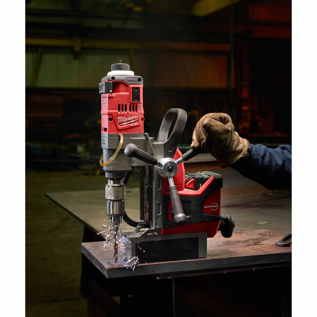 "Milwaukee 2787-22 M18 FUEL 1-1/2""  Cordless Magnetic Drill Press Kit with XC5.0 Battery and Case"