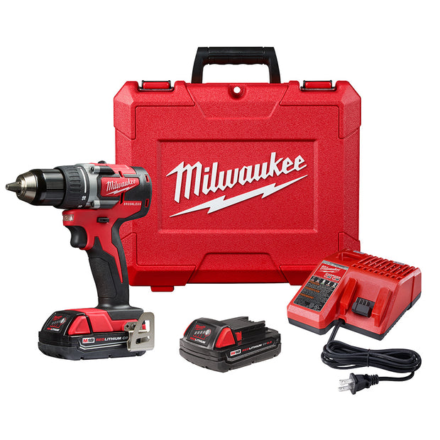 "Milwaukee 2801-22CT M18 Compact Brushless 1/2"" Drill CPKit"