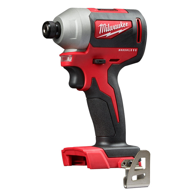 "Milwaukee 2850-20 M18 Compact Brushless 1/4"" Hex Impact Driver Bare Tool"