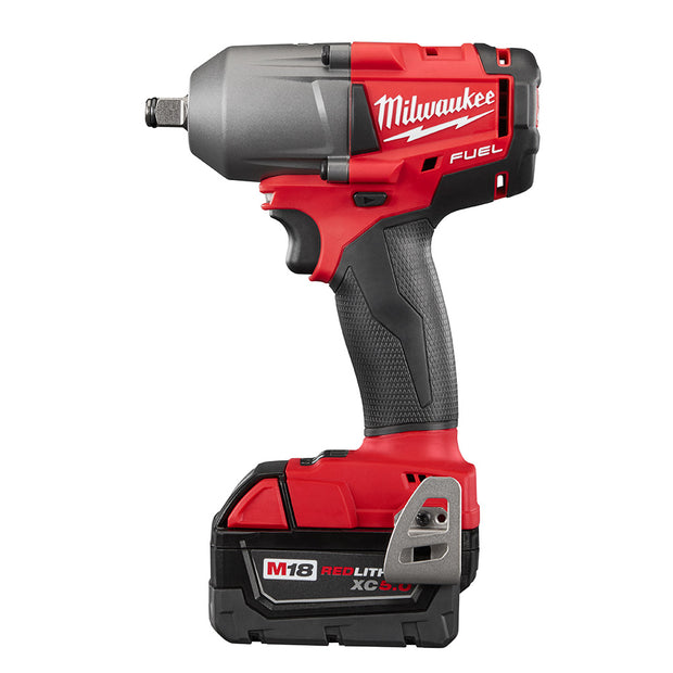 "Milwaukee 2861-22CX M18 FUEL 1/2"" Mid-Torque Impact Wrench w/ Friction Ring Kit"