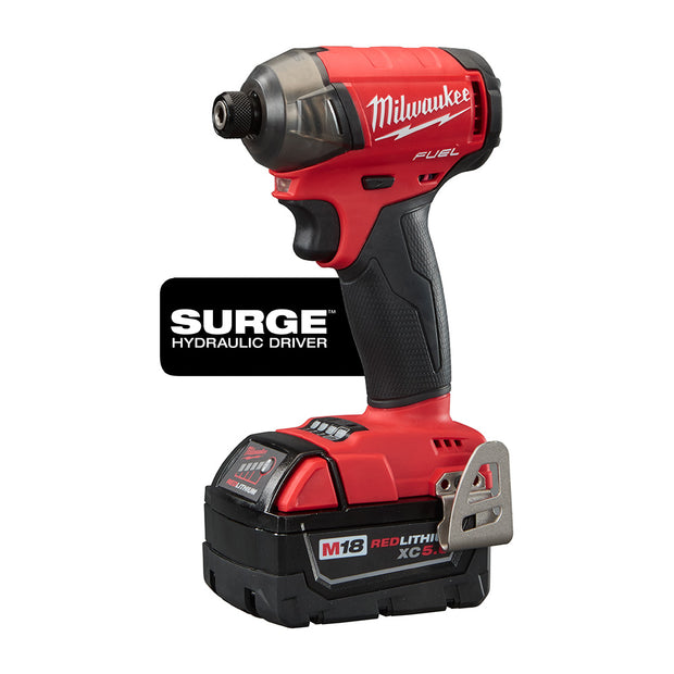 Milwaukee 2896-22 M18 FUEL Drywall Screw Gun / Impact Combo Kit with XC Batteries