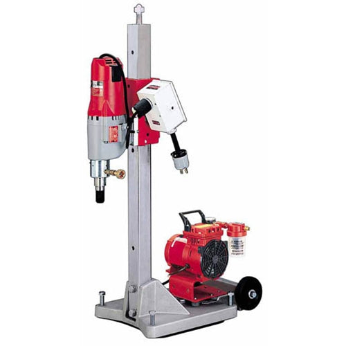 Milwaukee 4120-22 Diamond Coring Rig w/ Large Base Stand Vac-U-Rig