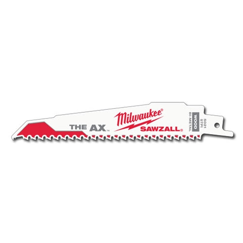 Milwaukee 48-01-7021 Super Sawzall Blade 5 Teeth per Inch 6-Inch Length, Ax