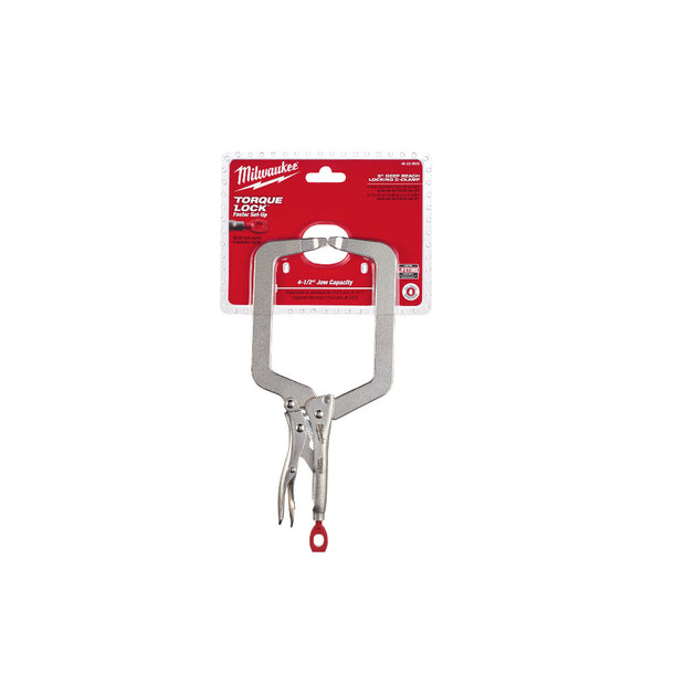 "Milwaukee 48-22-3533 9"" Deep Reach Locking C-Clamp"