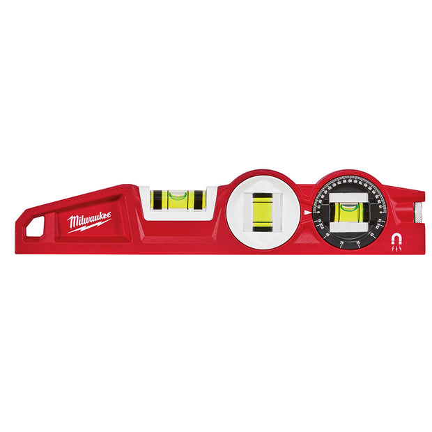 "Milwaukee 48-22-5210 10"" Die cast Torpedo Level with 360 Degree Locking Vial"