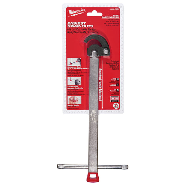 "Milwaukee 48-22-7001 BASIN WRENCH - 1.25"" CAPACITY"