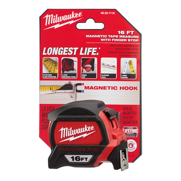 Milwaukee 48-22-7116 16' Magnetic Tape Measure
